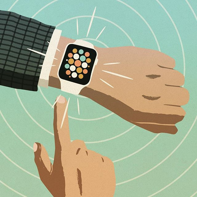 Another editorial illustration I worked on recently about technology connecting humans #miami #applewatch #editorial #illustration #illustree #thedesigntip #thevectorproject #retro #hands #vector #freelance #friday #tgif #future #art #modern #technology #tech #adobe #color #magazine #design #weekend #publishing #minimal #simple #alert #fun