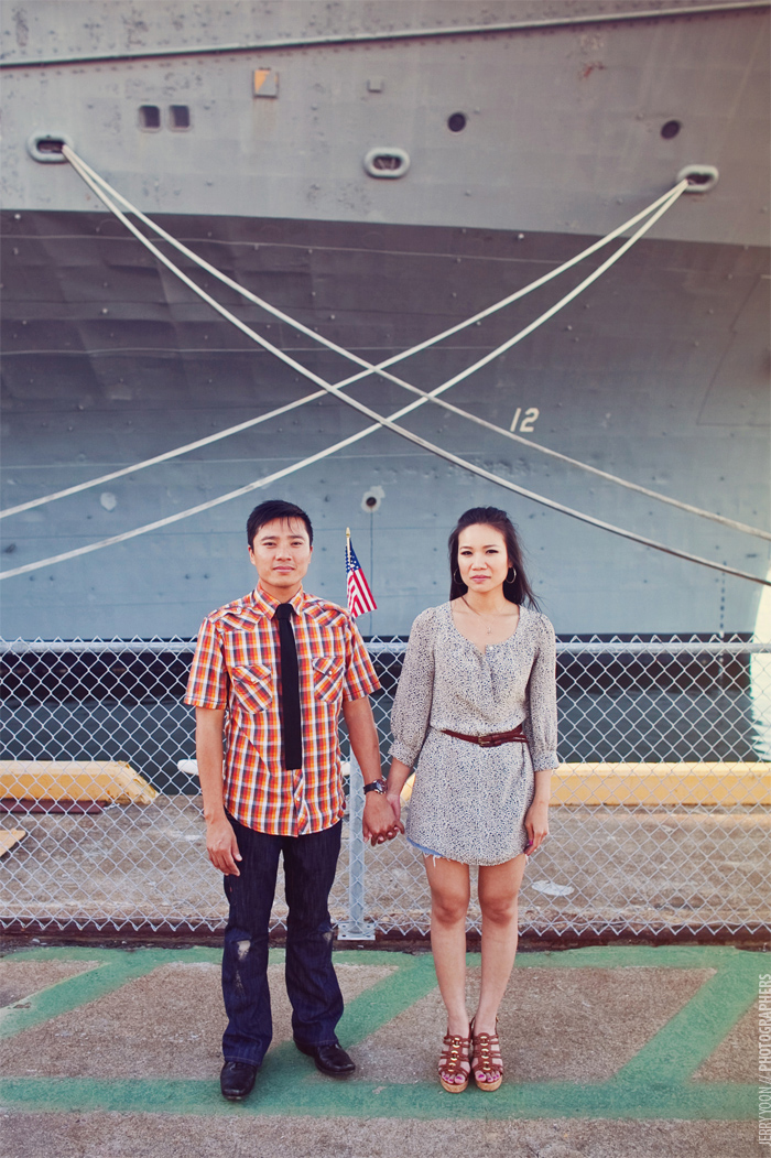 Engagement Photography for Alameda Wedding Navy Shipyard