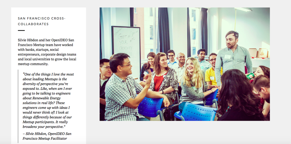 Silvie and her team featured on OpenIDEO Impact page.