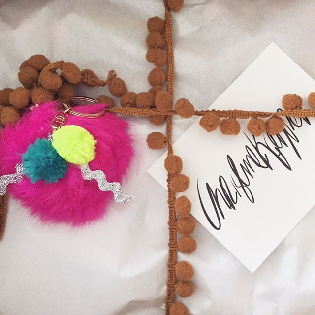 Free pompom keychain if you place order before midnight tonight! #christinekopper
