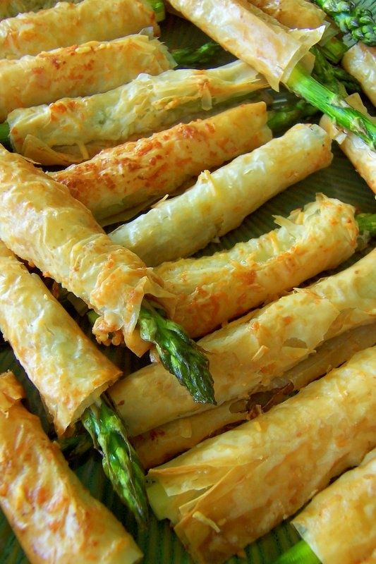 Asparagus wrapped in phyllo. Photo credit: The Gardening Cook