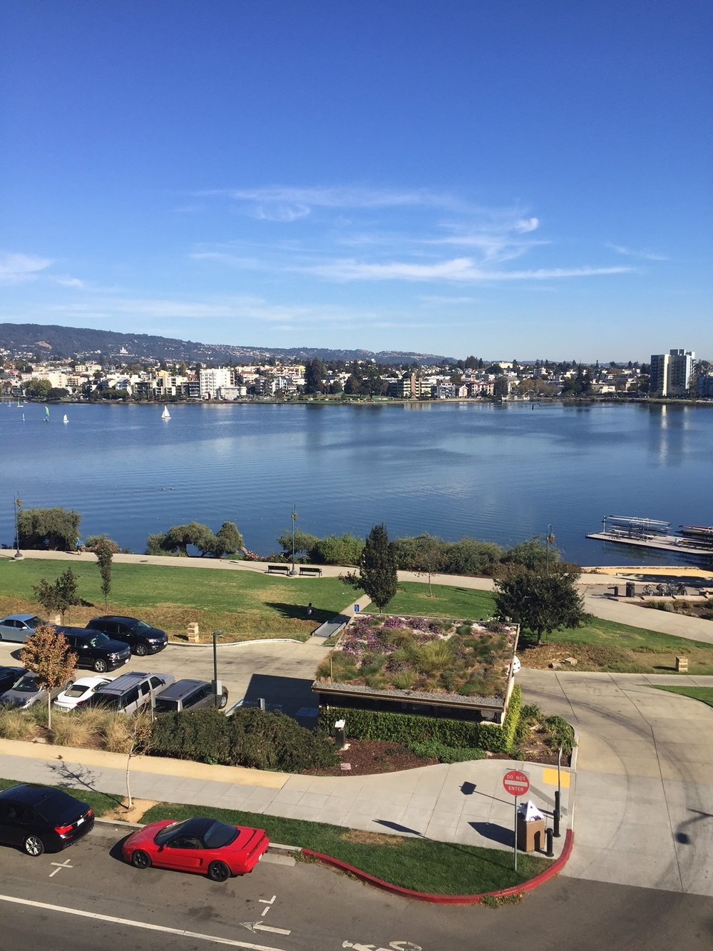 View of Lake Merritt from the 4th floor terrace of the Scottish Rite Center
