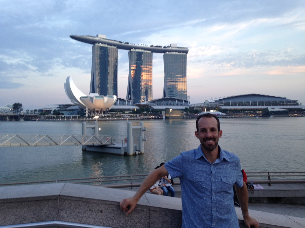 That's my hotel, the Marina Bay Sands, in the background in...Coruscant...err Singapore.
