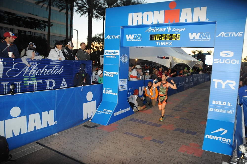 The Ironman finisher's chute...one of the best places in sports.