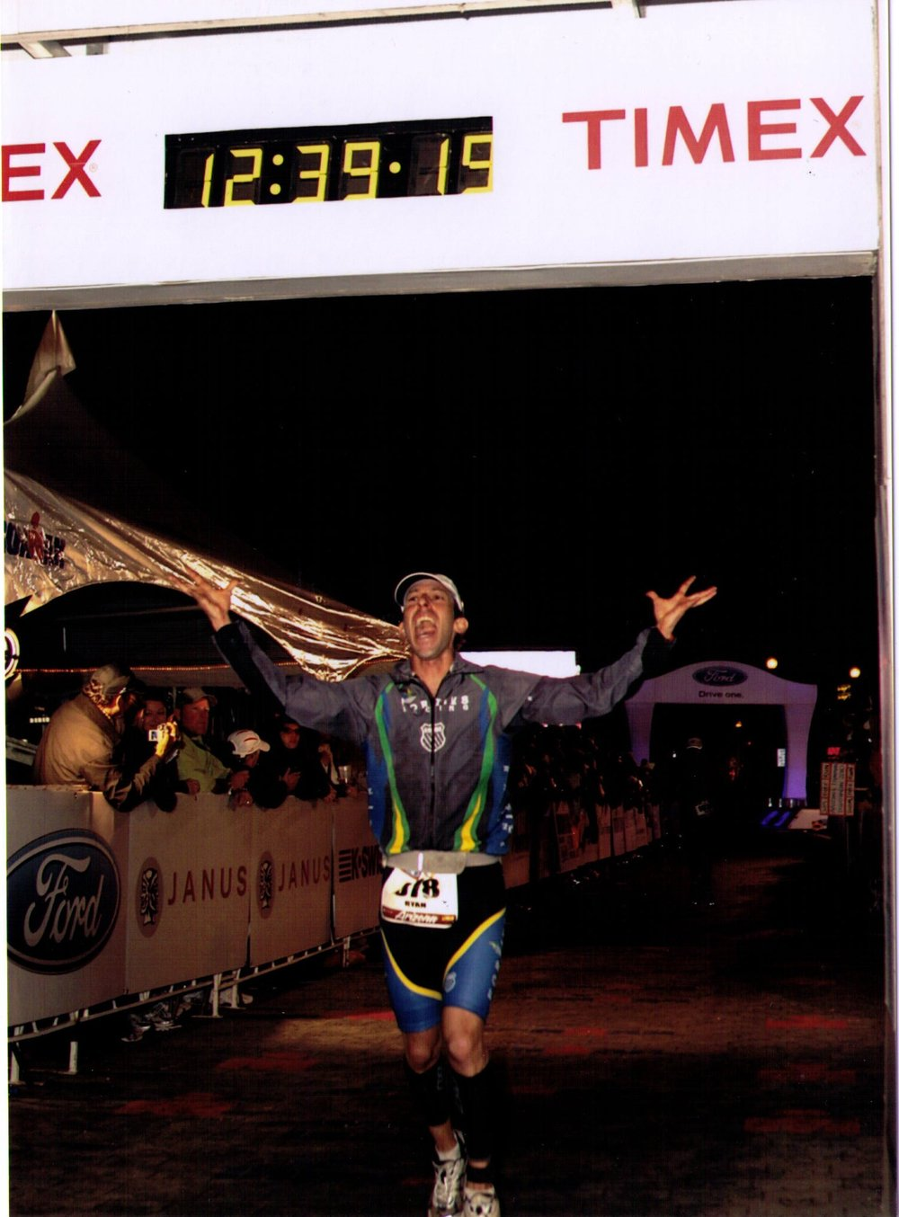 Crossing the line at my first Ironman, one of the best moments in my life.