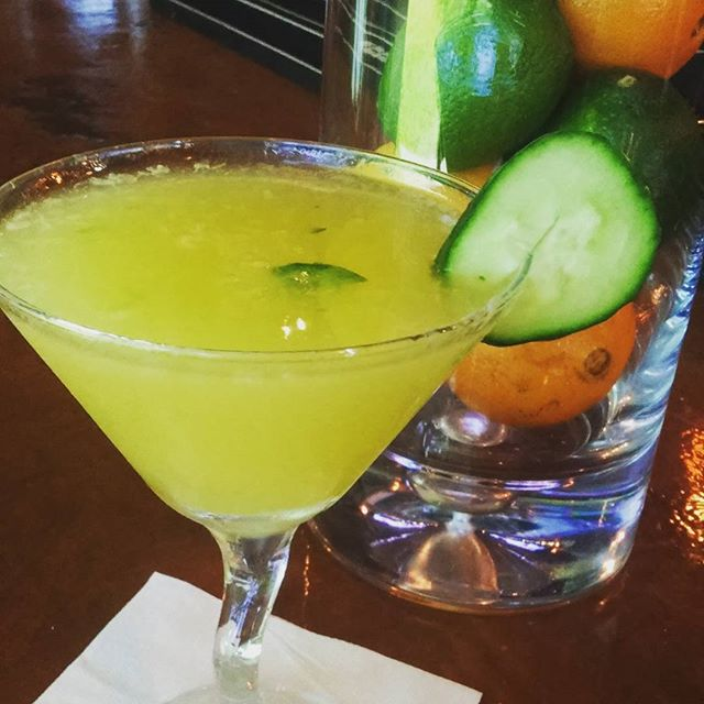 It's Mondaytini all day!!!! $5.00 pineapple cucumber martini made fresh for you #martini #fresh #cocktails #happyhour #woodlandhills #Italianfood #eeeeeats #foodlover #lafoodie