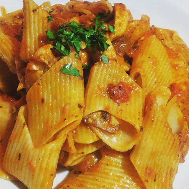 Pasta special for the week, Pennoni! #freshpasta #woodlandhills #eeeeeats #foodlover #foodporn #yum #livemusic #saturdaynight