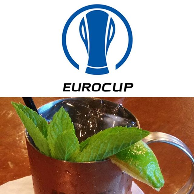 Happy Hour drinks while the soccer game is on! #eurocup #soccer #happyhour #woodlandhills #bars #cocktails #eatstagram #tv #cafefiore