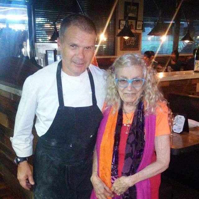 Chef Saverio with one of our favorite people #appreciate #muchlove #smiles #chef #Italianfood #woodlandhills #instafood #cafefiore #happiness