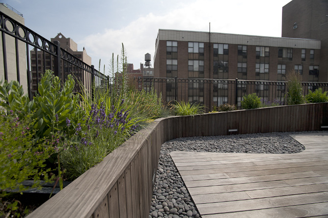 Residential Rooftop Gardens hoffman roof garden — desbrisay & smith architects