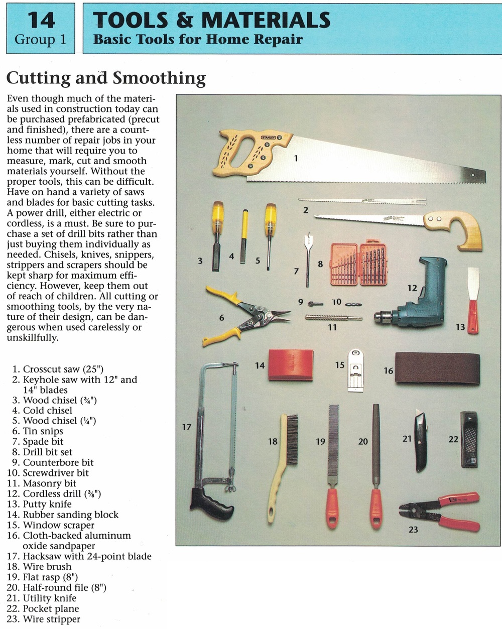 Cutting and Smoothing Tools