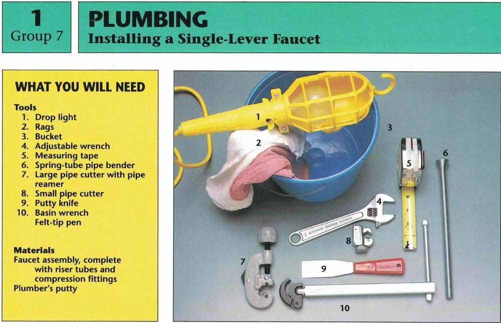 Installing a Faucet