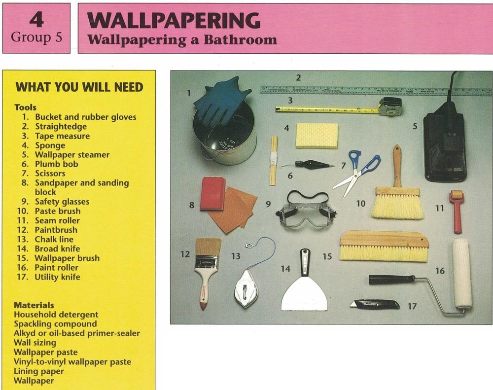 Wallpapering a Bathroom