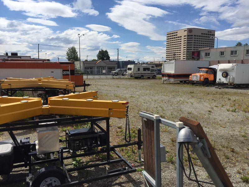 AK MLS# 15-15357   581 E 4th Avenue Anchorage, AK 99501  Commercial Lease  Office trailer available for lease along with up to 13,000 sf Business Zoned land. Land also for sale along with office and equipment on lot. Near State office building, downtown, highway. Perfect for contractor, landscaper, or emerging business with need for office and yard.