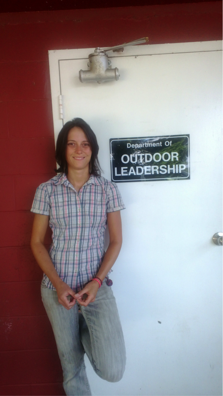Whitney Thomas recently transitioned to a full-time position in NGU's Outdoor Leadership department.