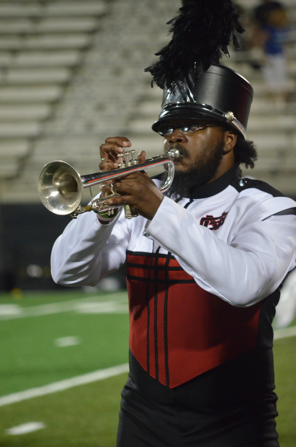 Another trumpeter takes the stage to show off his skills