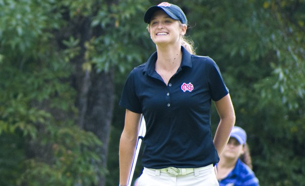 Lauren Childs, a junior on the North Greenville women's golf team, saved an elderly man's life at the Founders Credit Union-Converse Fall Invite tournament held Sept. 15-16, 2014. She has been playing golf since she was a freshman in high school in 2008.