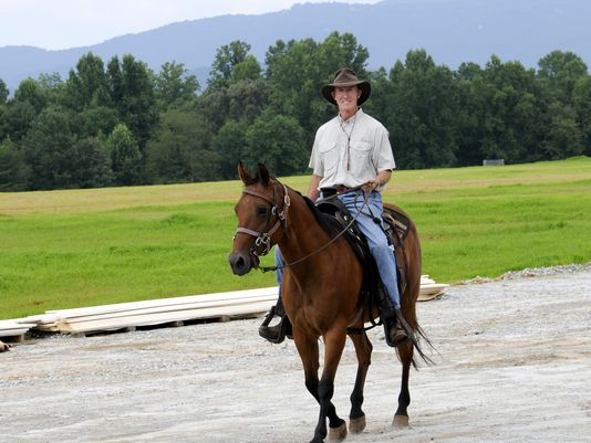 Photo Courtesy of GreenvilleOnline.com  If you've been on campus on a sunny day, then you've probably seen Dr. Epting riding his horse.