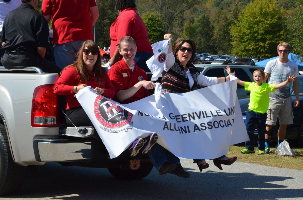 The North Greenville Alumni Association is proud to show their pride for the school and it's students.