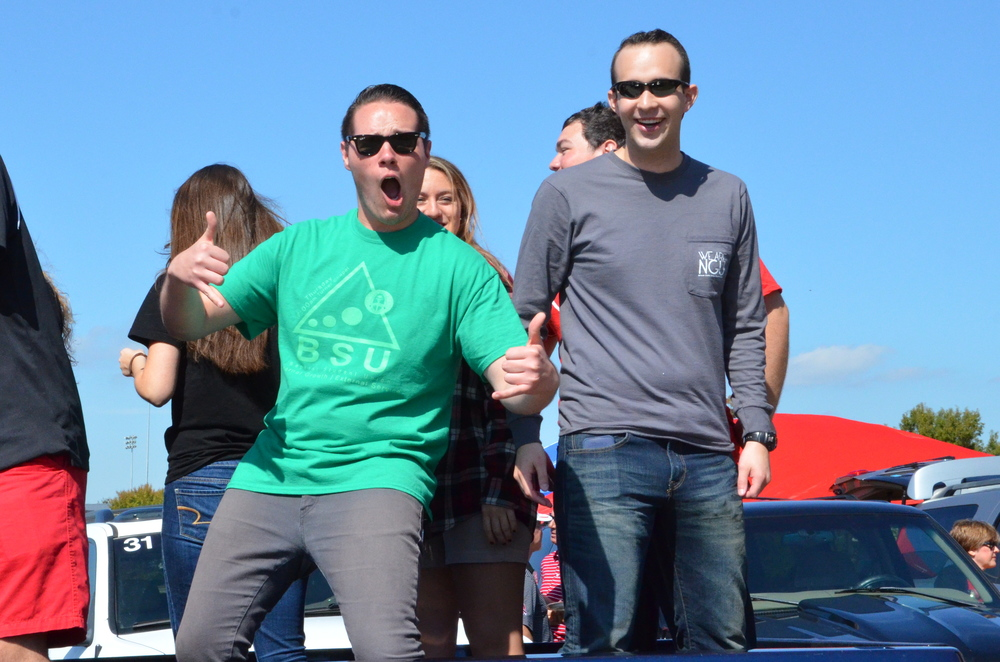 Some BSU representatives sure are happy to be in this parade.
