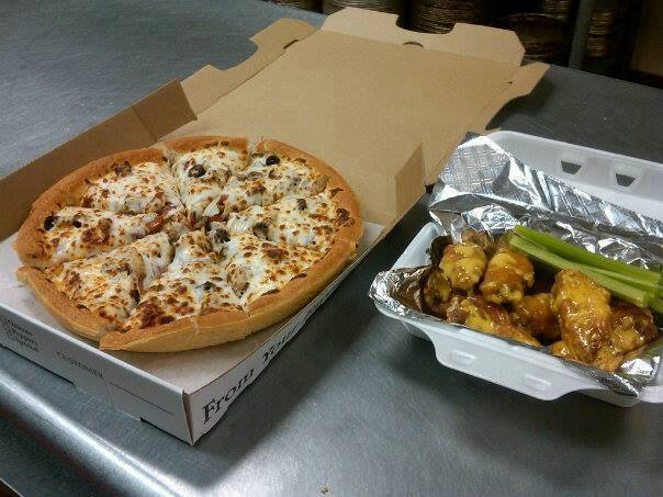 Photo courtesy of Nate's Pizza  Try Nate's pizza and wings for your next off-campus craving.