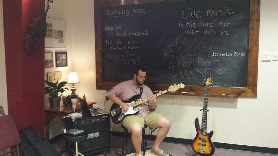 Photo courtesy of Nate's Pizza    NGU's own Jacob Bradford was a crowd favorite during his set during Friday night live.