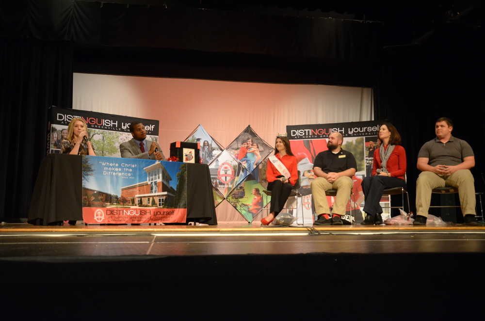 The panel sits down to talk about their individual experiences with NGU during Saturday's Encounter Day.