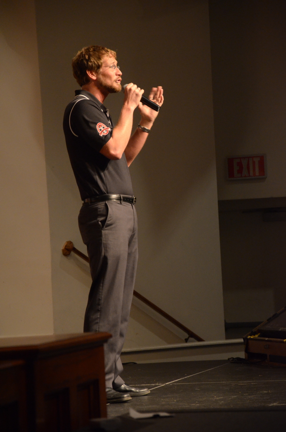 Cory Truax, admissions counselor, is laying out the nitty-gritty details of the price to attend NGU.