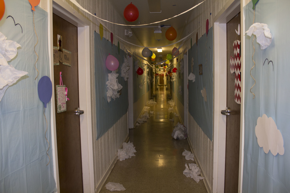 Bottom Vandiver decorated their dorm with the movie theme Up for Halloween festivities on October 31.