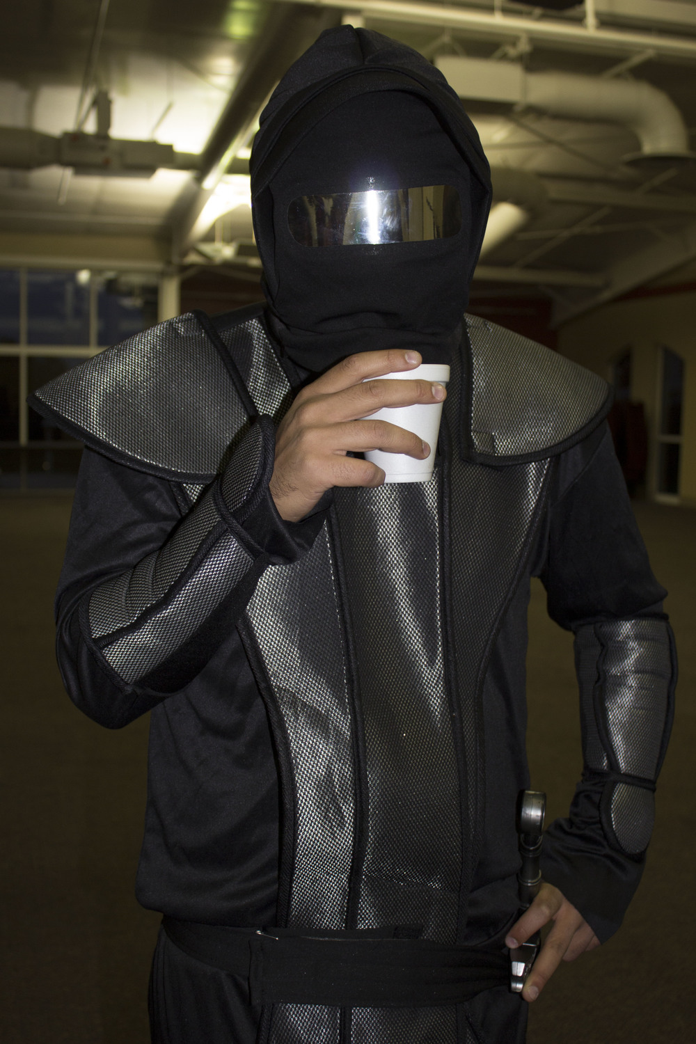 Don't be fooled by sophomore Chris Vazquez's calm demeanor while he sips his coffee; he is a ninja.