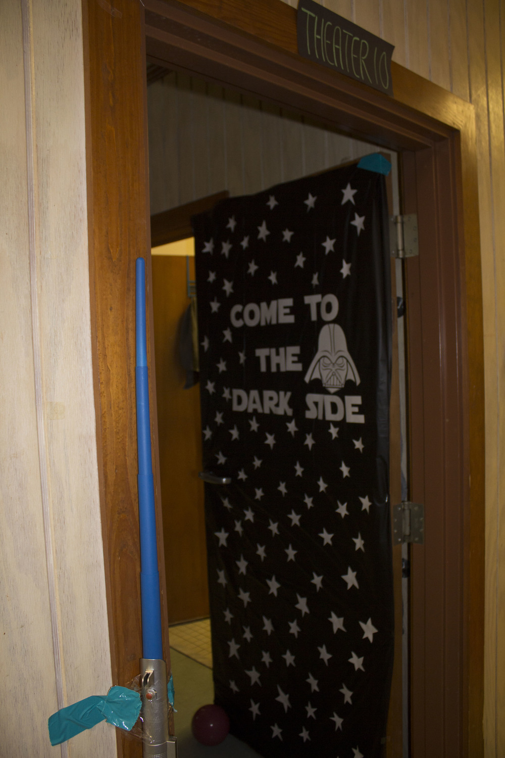 The Hartness dorm had the theme of a theatre. You can never go wrong with a classic Star Wars door.