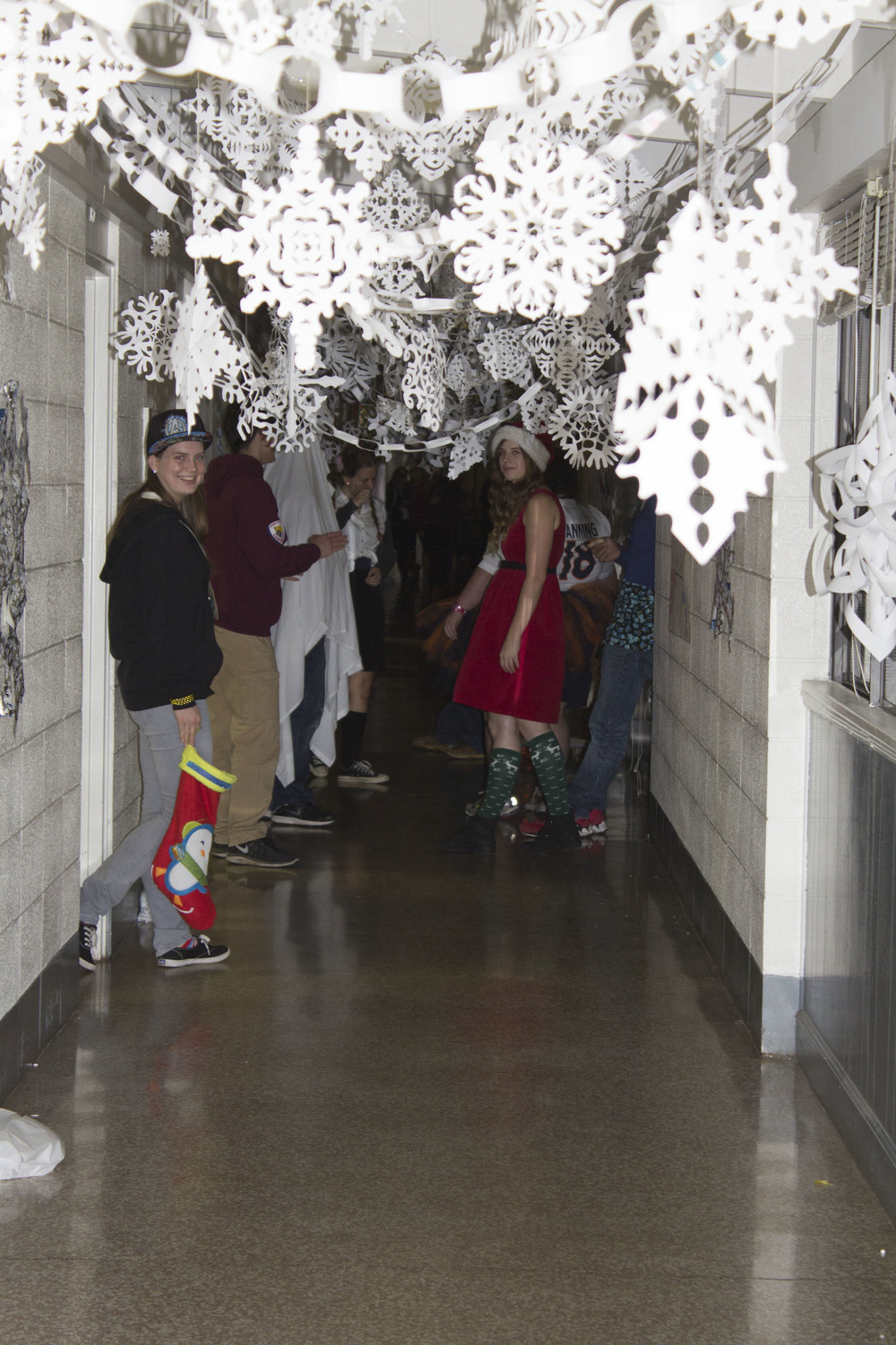 Upstairs Simpson rocked the Elf theme with their countless cut out snowflakes hanging from the ceiling.