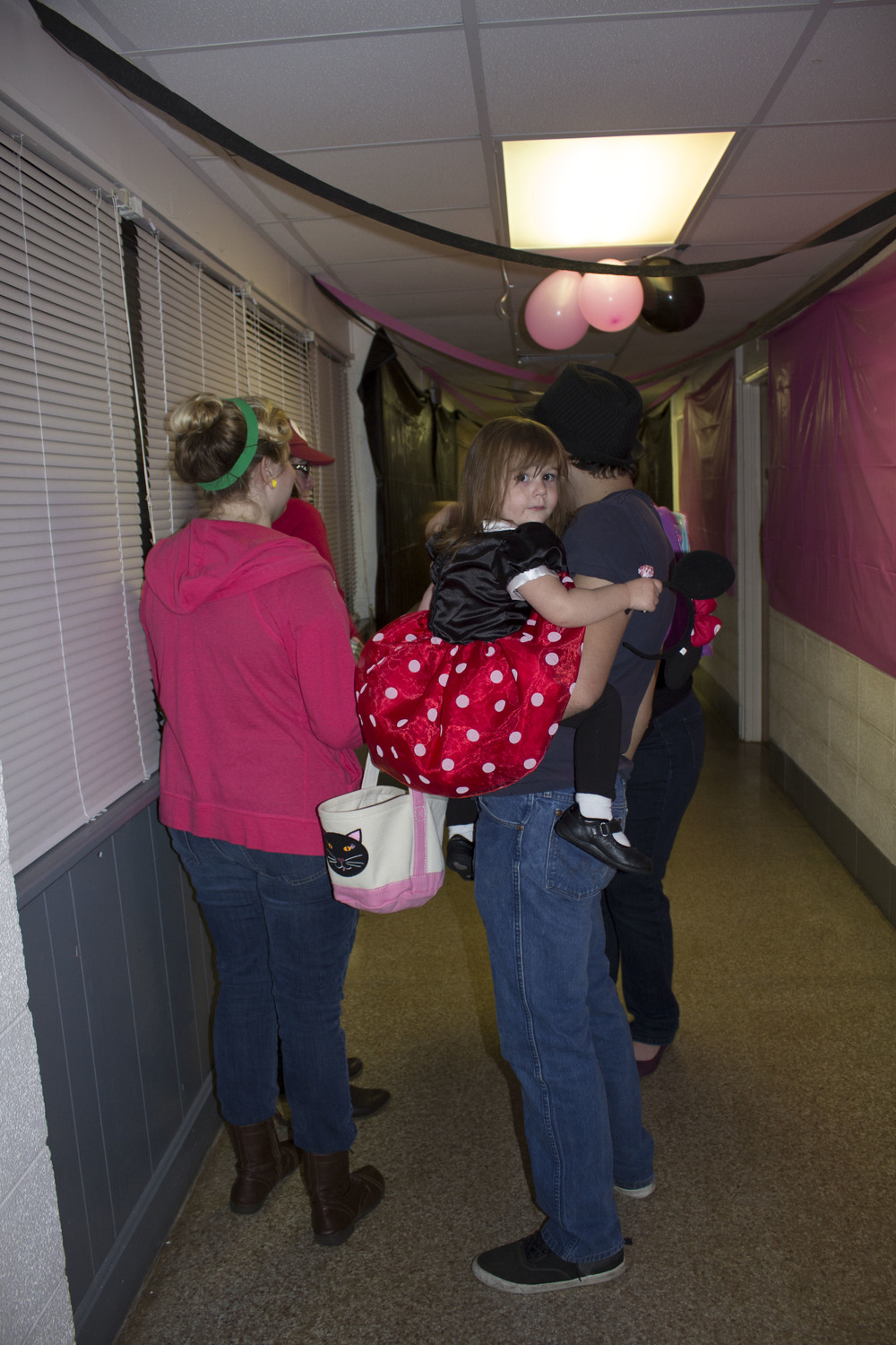 Families enjoyed the laid back, fun atmosphere the open dorms allowed for their kids during Halloween.
