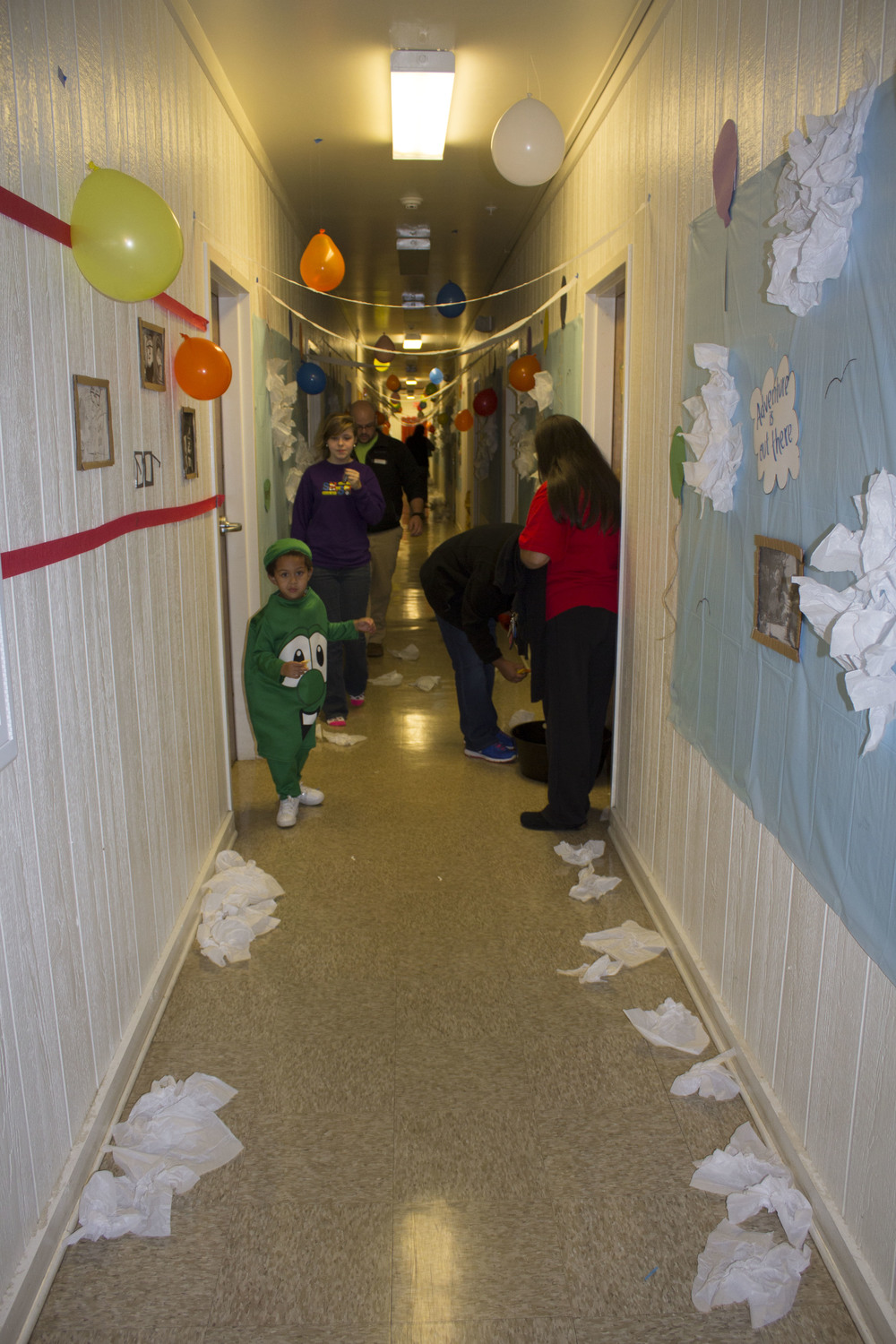 Kids loved walking in the sky surrounded by balloons when they went through Bottom Vandiver's hallway.