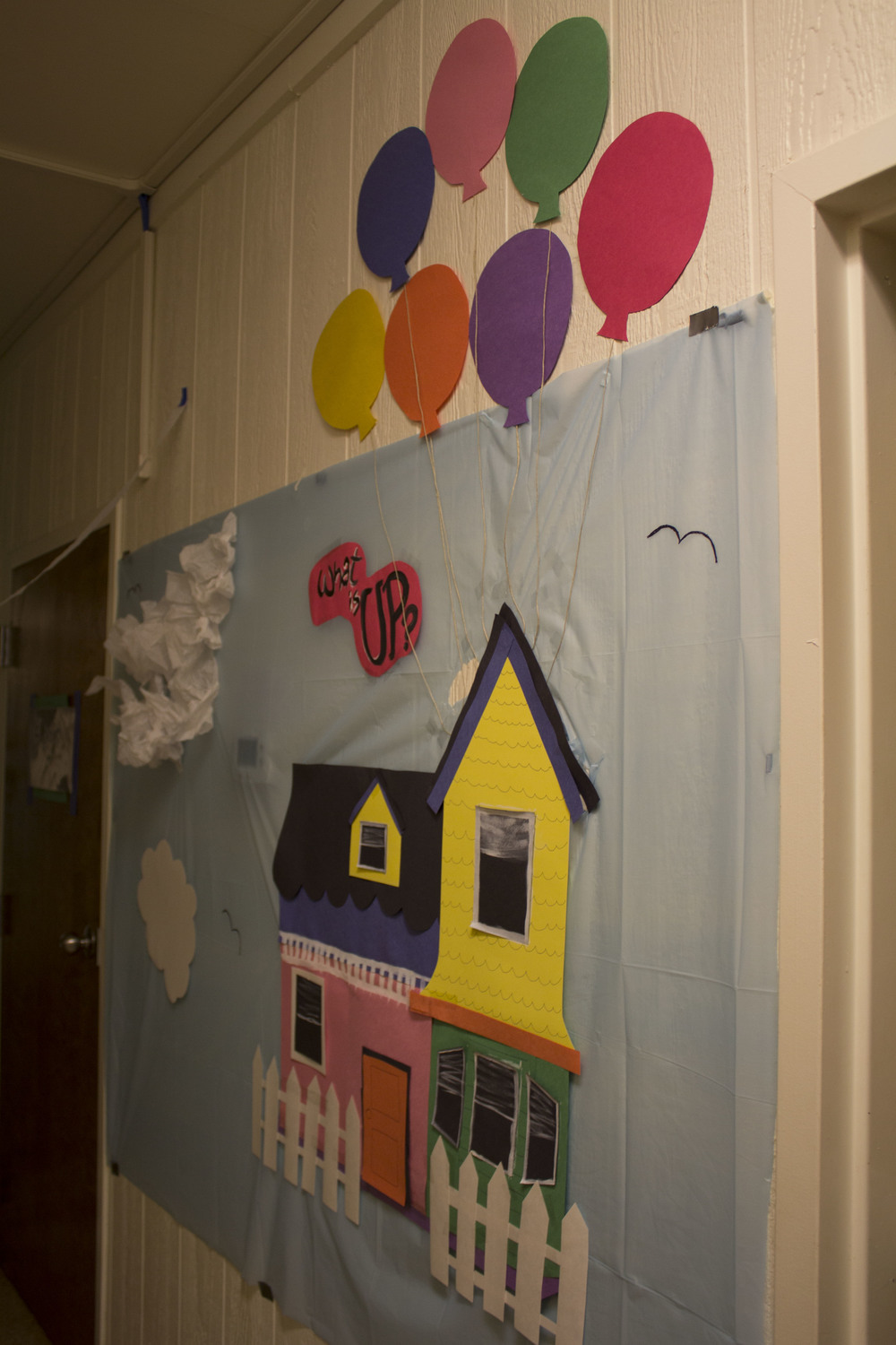 Bottom Vandiver decorated their dorm with the movie theme Up, including well done details such as the house.