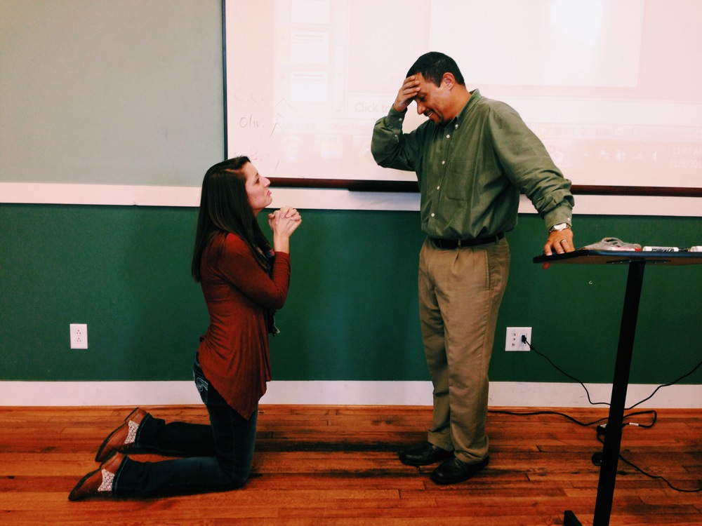 """Victor Prieto brings Hannah Mashburn to tears as she begs for a chance to make an """"A"""" in the class."""
