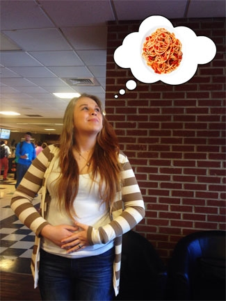 Tori Gilbert dreams of spaghetti.