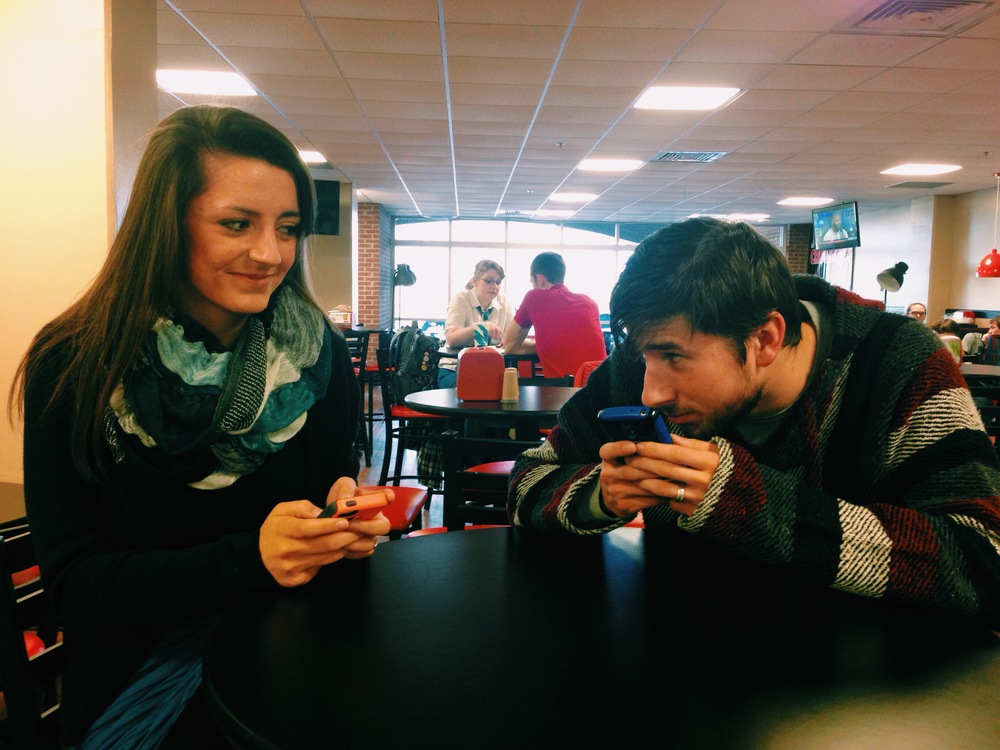 Hannah Mashburn advises her boyfriend, Reagan Koschel, that boys need to actually talk to girls if they're interested.