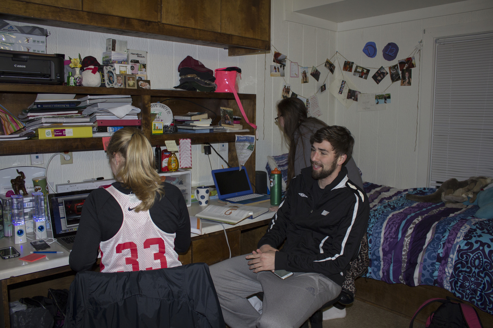 Sophomore Devin Worth decides to invite some friends over to study in her room instead of heading off to the library.