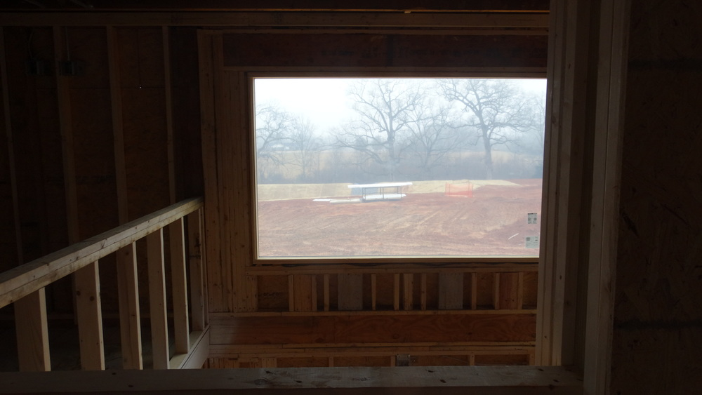 Astain glass window will be installed here for a beautiful view for students in the mezzanine area.