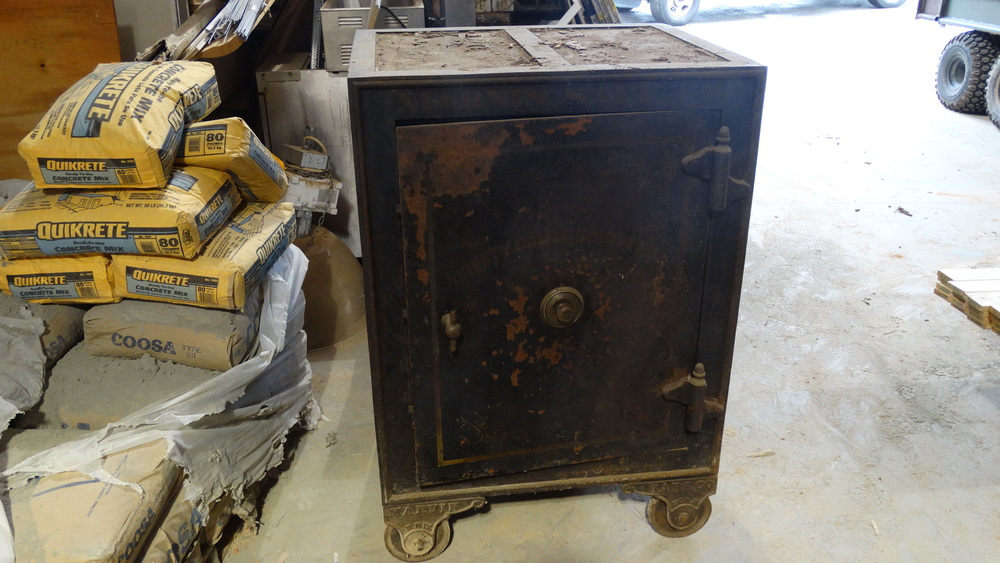 This safe was in the original Wood Store, and Hayes is hoping it can be incorporated into the new design.