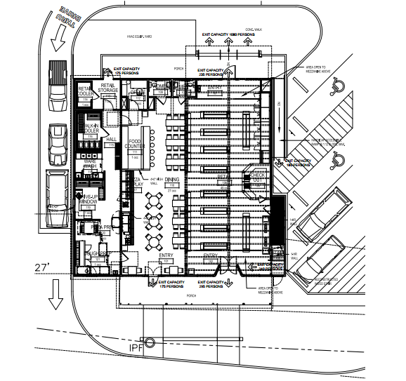 This floor plan shows what the inside of the store will look like once finished.