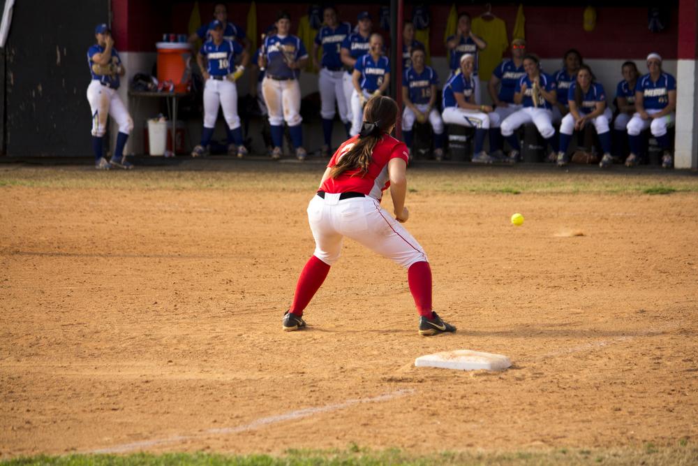 Sophomore Megan Johnson anticipates the ball.