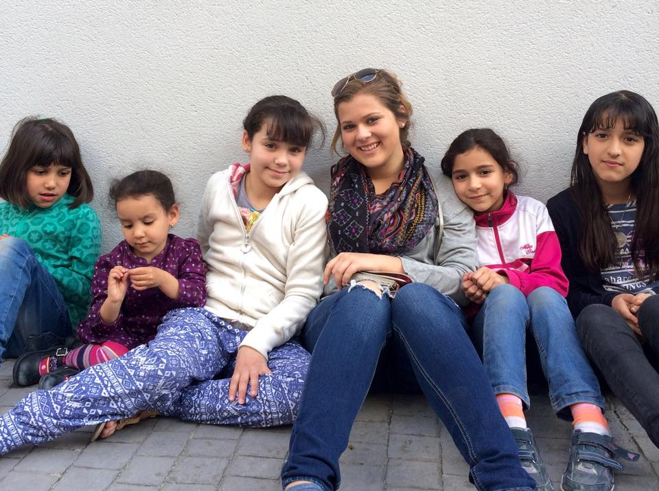 Rachael Cooper enjoys the chance to be able to get to know and connect with the children in Spain during her mission trip.  Photo provided by Rachael Cooper