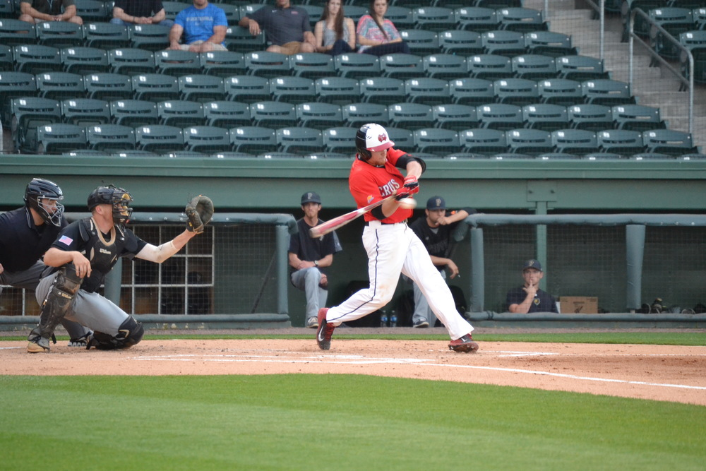 Allen Staton, a senior from Laurens County, hit a home run against Pfeiffer University causing the fans and players to get more engaged in the game.