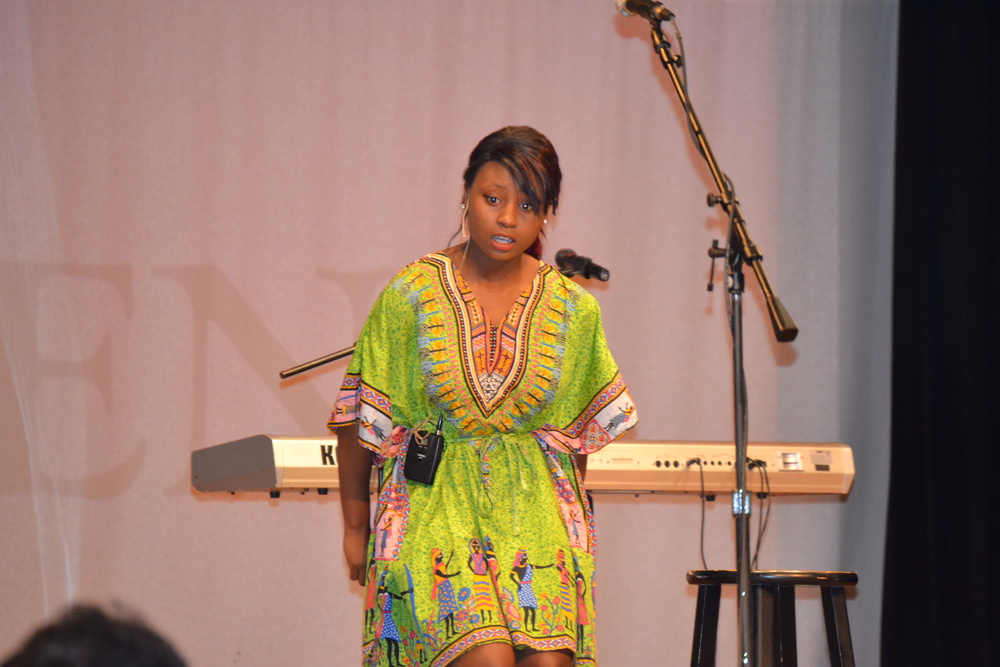 Chanel Brown shows her talent by moving the audience with spoken word.