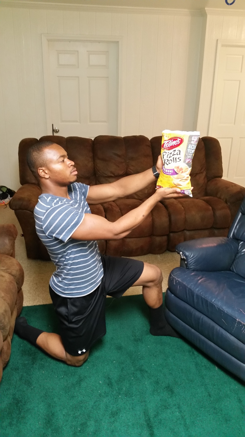 Tyler Williams holds pizza pockets in high esteem