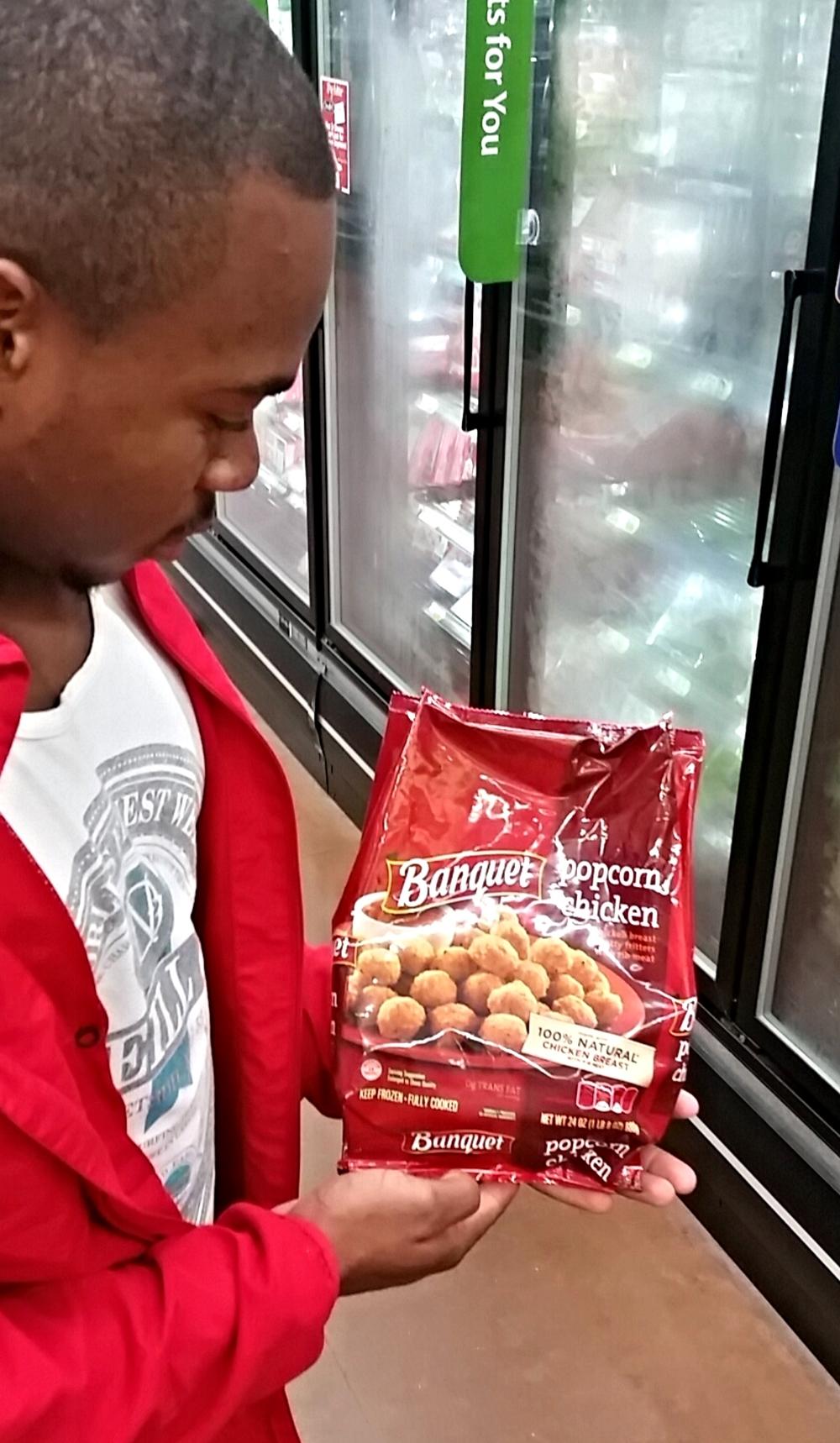 Tyler Williams contemplates popcorn chicken