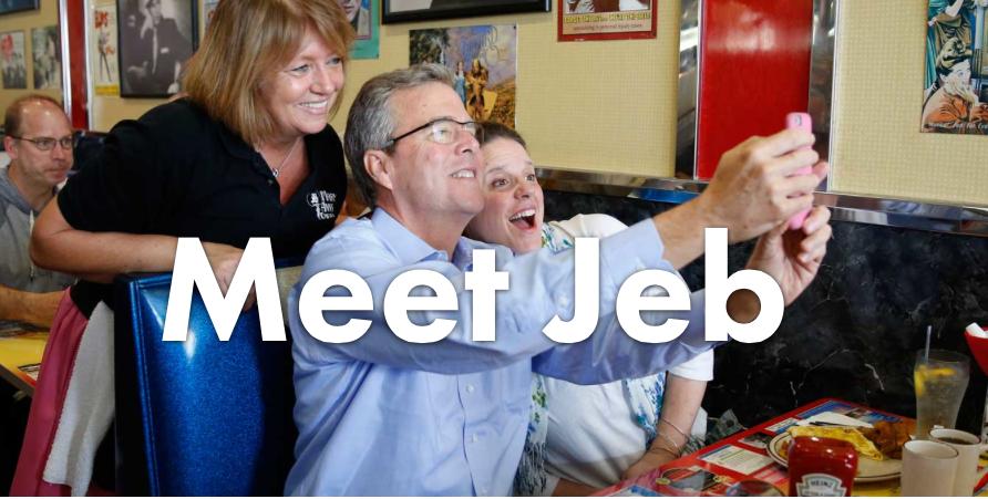 Image from Jeb Bush's official campaign website,jeb2016.com.