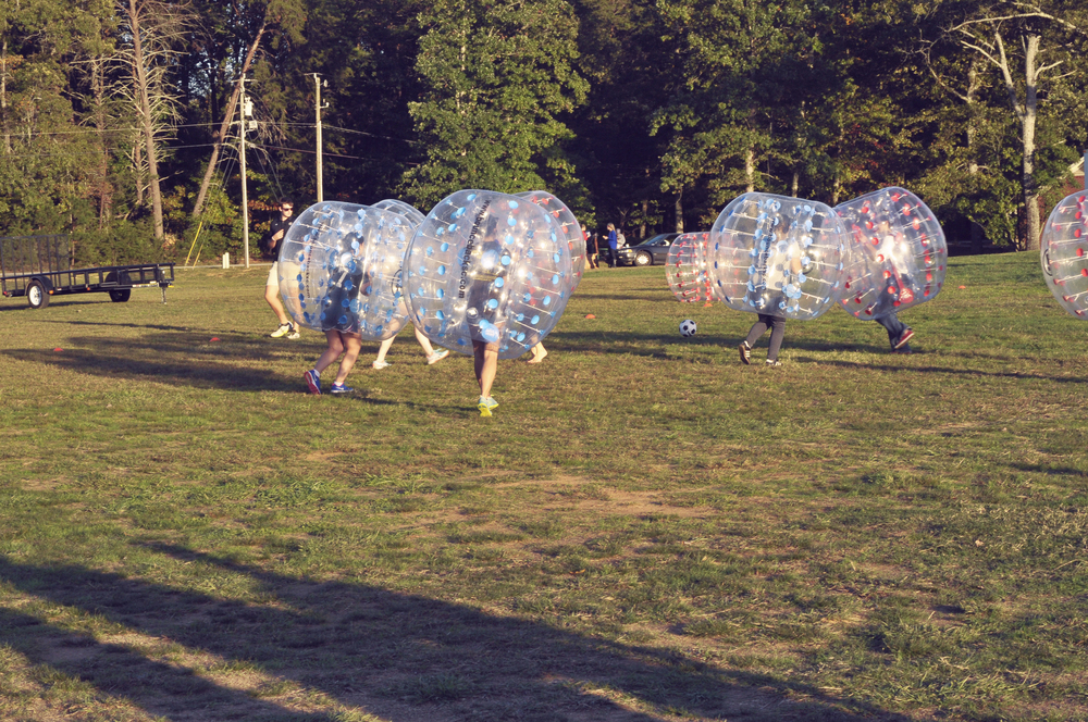 North Greenville students played bubble soccer during homecoming week.